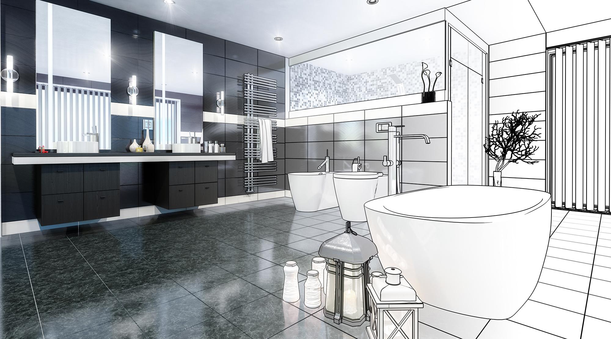 ECOPH Salle de bain contemporain
